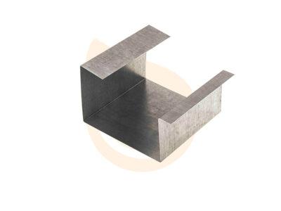Pieza de unión canalón cuadrado
