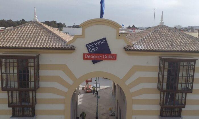 Reforma del Centro Comercial Plaza Mayor de Málaga - Canalón redondo de Aluminio Oxid OTM Sistemas