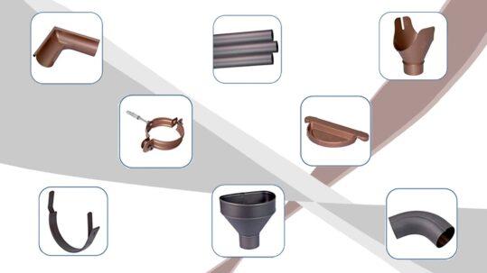 Canalón de aluminio redondo para aguas pluviales (classic y oxid)